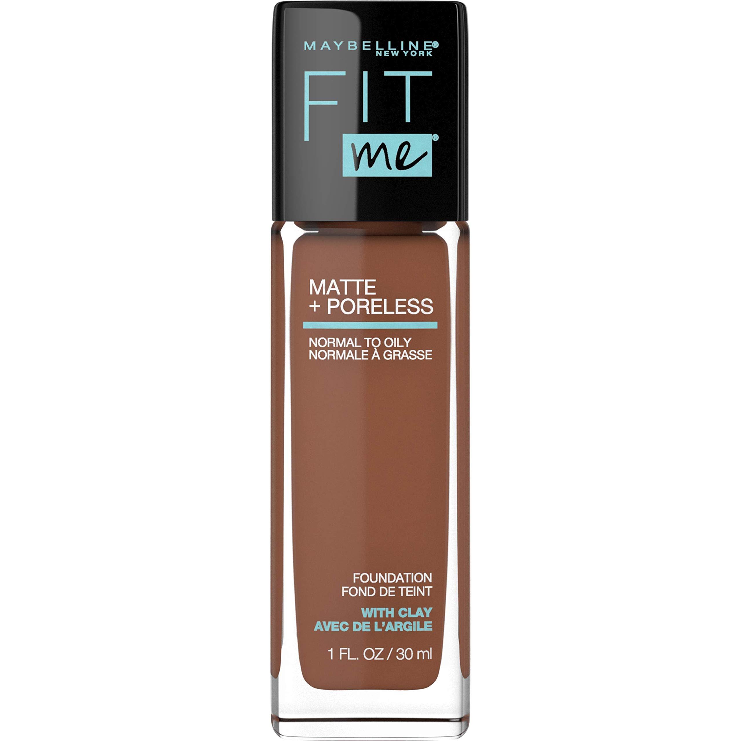 MAYBELLINE Fit Me Matte + Poreless Liquid Foundation Makeup, Deep Bronze, 1 fl; oz; Oil-Free Foundation