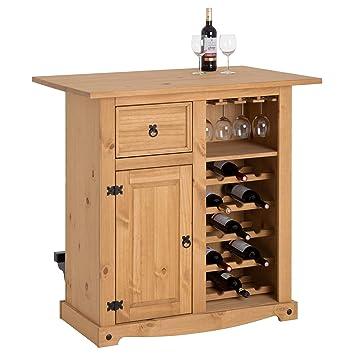 d63546bcd46001 IDIMEX Table Haute de Bar Tequila Mange-Debout comptoir Bar à vin avec Range  Bouteilles