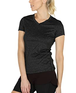 b21ab39a8ec7 icyzone Workout Shirts Yoga Tops Activewear V-Neck T-Shirts for Women  Running Fitness