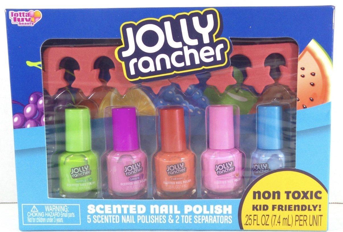 Amazon.com: Jolly Rancher Scented Nail Polish Set , 5 pc Non Toxic ...