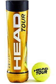 Head - Tubo de Tenis de 4 Bolas Unisex, Color Amarillo, Talla única