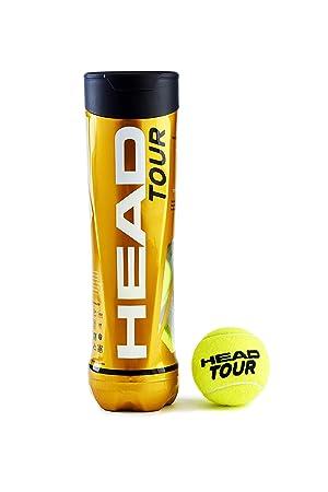 Head - Tubo de Tenis de 4 Bolas Unisex, Color Amarillo ...