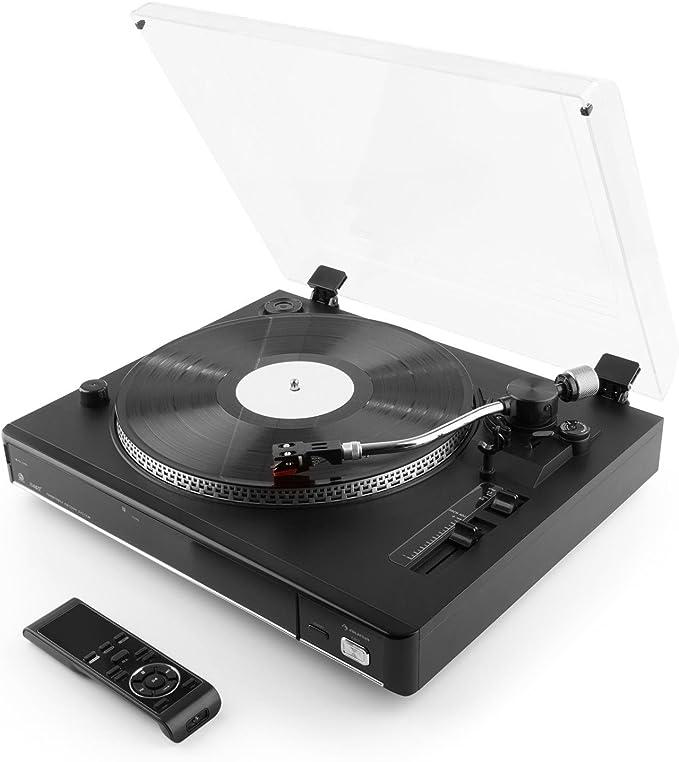 auna TT-992 USB Tocadiscos (USB, SD, MP3, 33/45 g/min, función ...