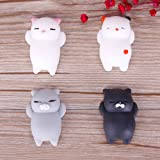 CALISTOUS 4pcs Fun Squishy Soft Toys Cut Cat Bosom Squeeze Toy Relax Toy