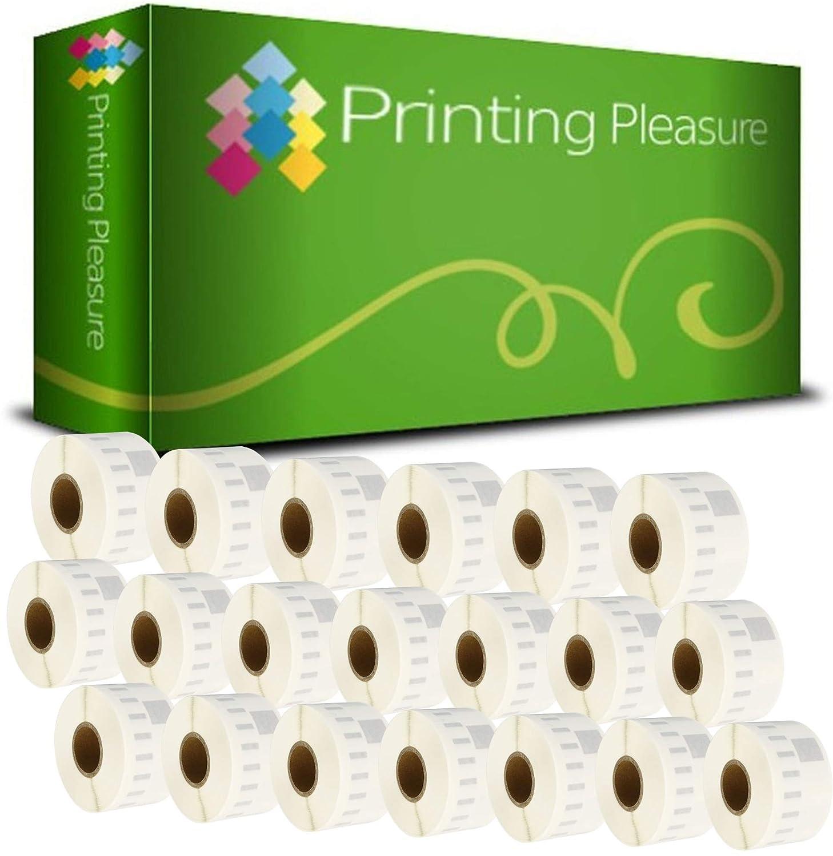 Printing Pleasure 20 x 99017 Rollen Etiketten Etiketten Etiketten kompatibel für Dymo LabelWriter & Seiko Etikettendrucker   50mm x 12mm   220 Stück   Hängeablageetiketten B0172AER0O | Internationale Wahl  29f50b