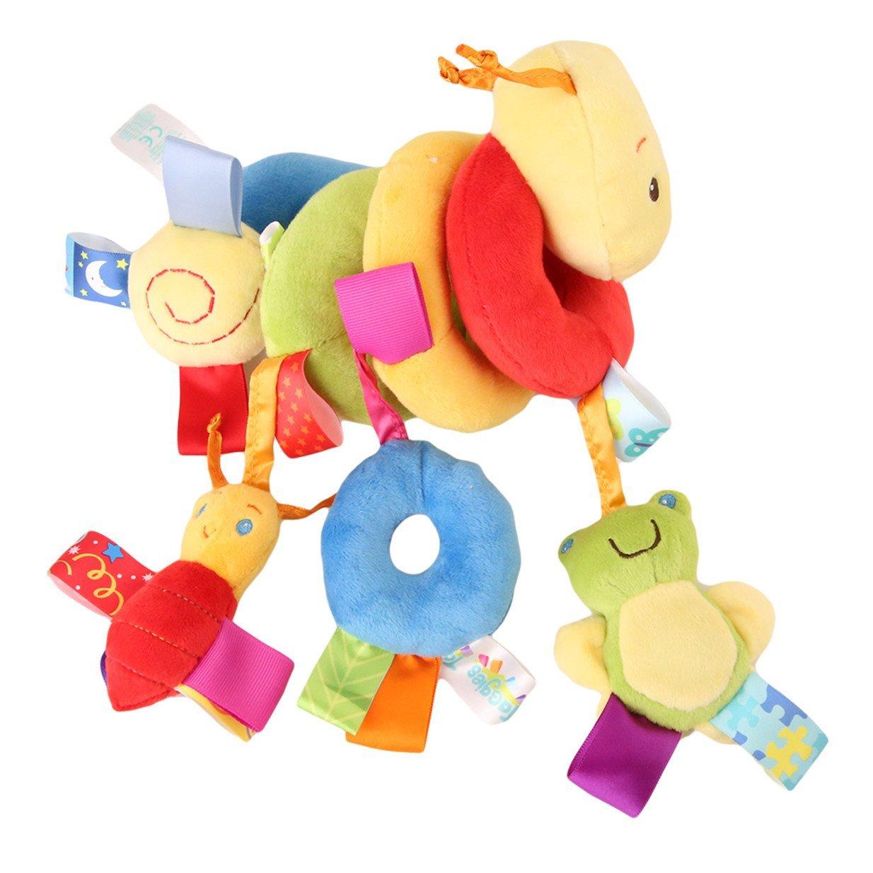 Lalang Bébé Jouet de Poussette Berceau Hochet Jouets Animales éducatifs en Peluche, Twisty Spirale d'activités Hanging Jouets 88_Store