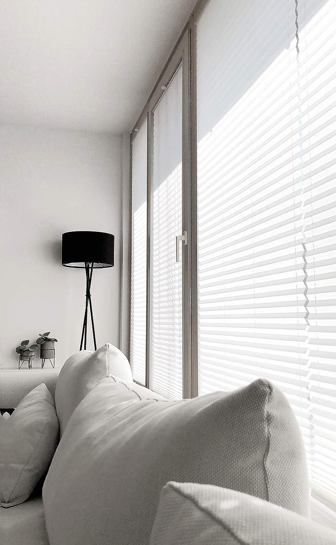 Plissee NACH MAß MAß MAß mit Klemmfix Rollo Jalousie, Easyfix klemmträger ohne Bohren verspannt Faltrollo für Fenster Farbe & Größe wählbar (Weiß, Breite  101-110cm, Höhe  111-130cm) B075F4DKCW Plissees bbe06b