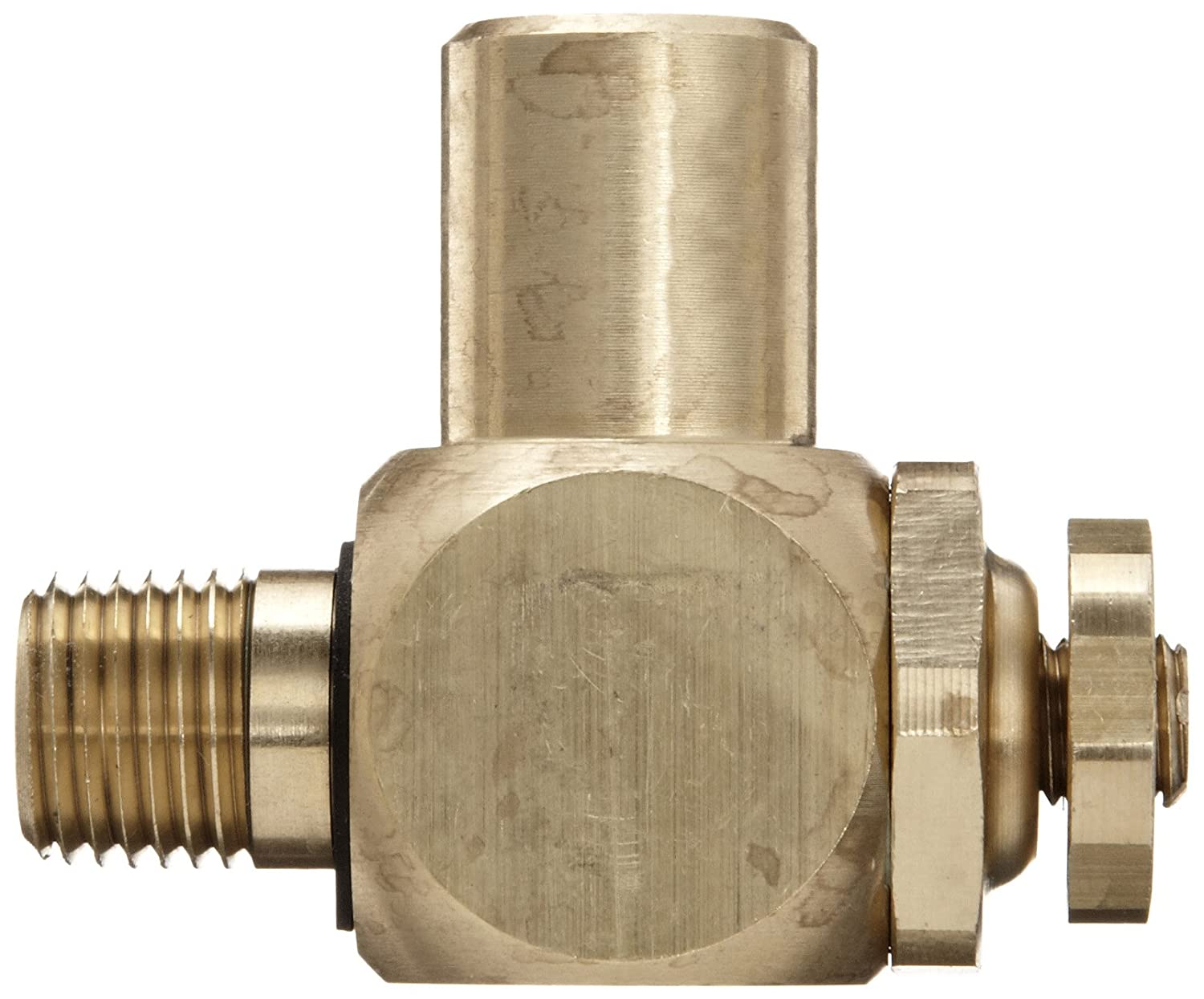 125 psi 1//4 NPT Male x Female Parker 032510250 3251 Series Brass Right Angle Flow Control Valves 1//4 NPT Male x Female