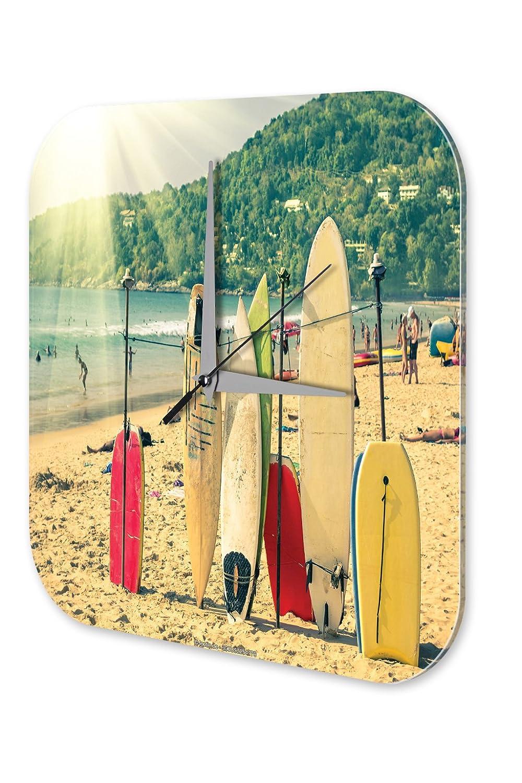 Reloj De Pared Decoracion Diversión Tablas de surf Plexiglas: Amazon.es: Hogar