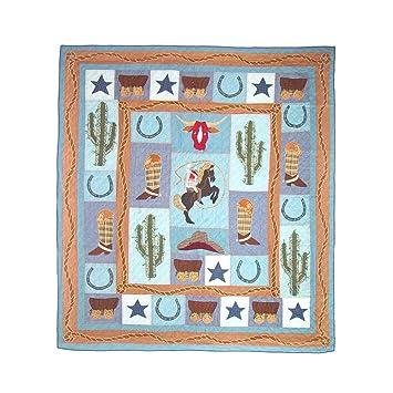 Amazon.com: Patch Magic King Cowboy Quilt, 105-Inch by 95-Inch ... : cowboy quilt - Adamdwight.com