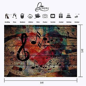 LYLYCTY LYGE1054 - Telón de Fondo de Madera con diseño de Plancha, Estilo Vintage, diseño de música, Fondo de fotografía, Fondos para Estudio Personalizados ...