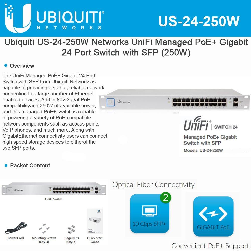 Ubiquiti US-24-250W Unifi Switch24-port250W by Ubiquiti