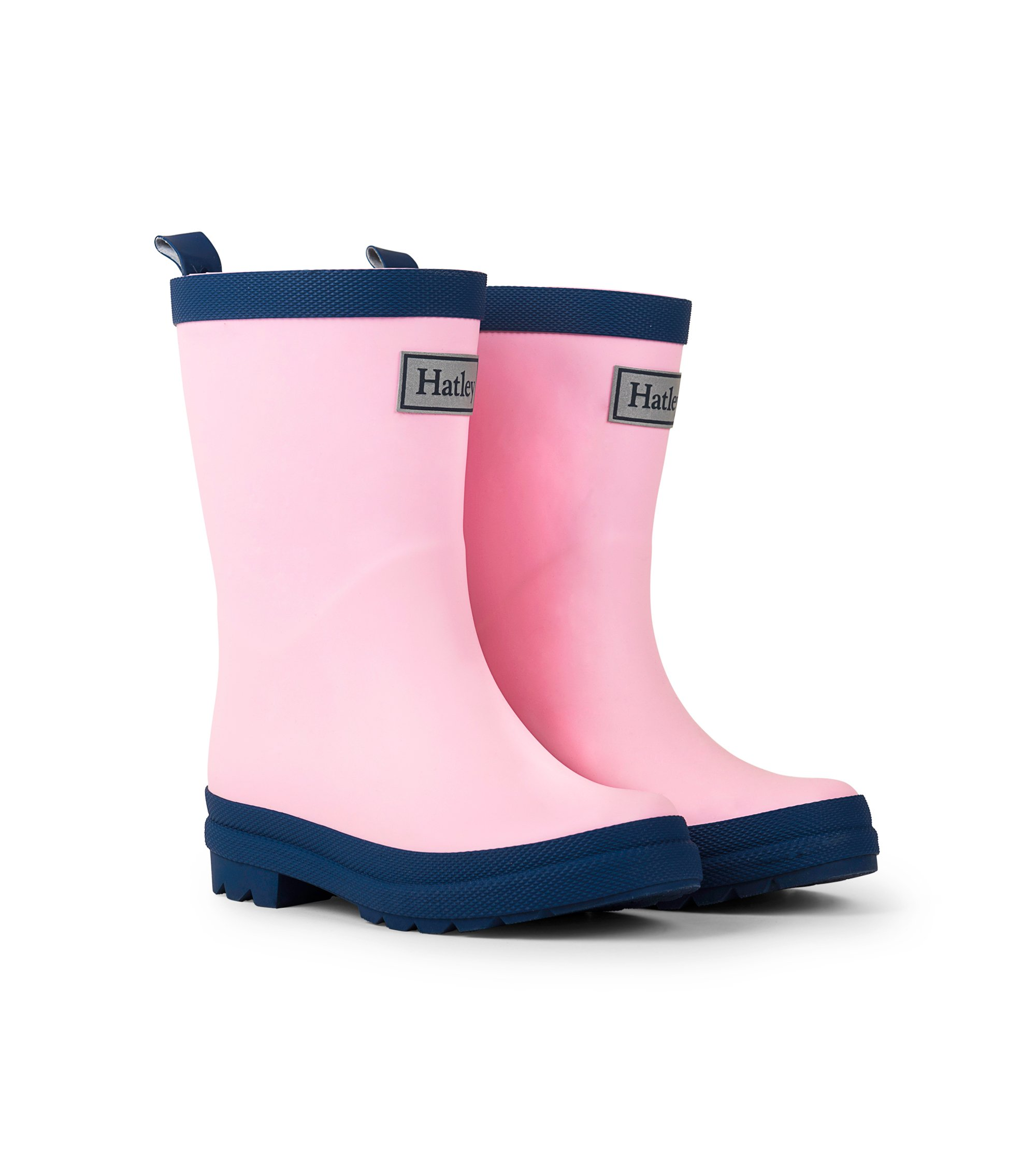 Hatley Classic Rain Boots, Pink and Navy, 13 M US Little Kid