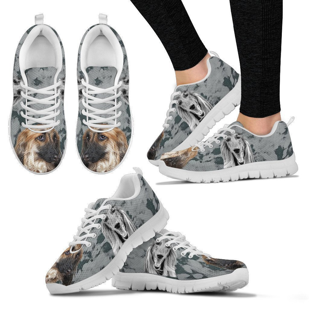 Pet Lovers Fest Afghan Hound Black White Dog Print Running Shoes for Women-Easy Walking Shoes