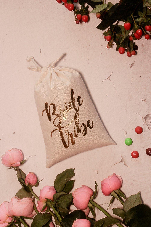 Amazon.com: 10pcs Wedding Party Favor Bags 5x7 inch Gold FOIL Bride ...