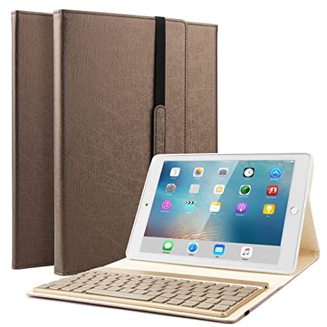 Boriyuan Samsung Galaxy Tab s2 9.7 caso, 7 colores de retroiluminación teclado retroiluminado desmontable caso