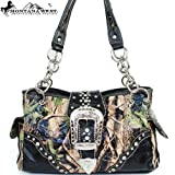 Montana West Cow Girl Camouflage Buckle Handbag in Black Western Camo Shoulder Purse