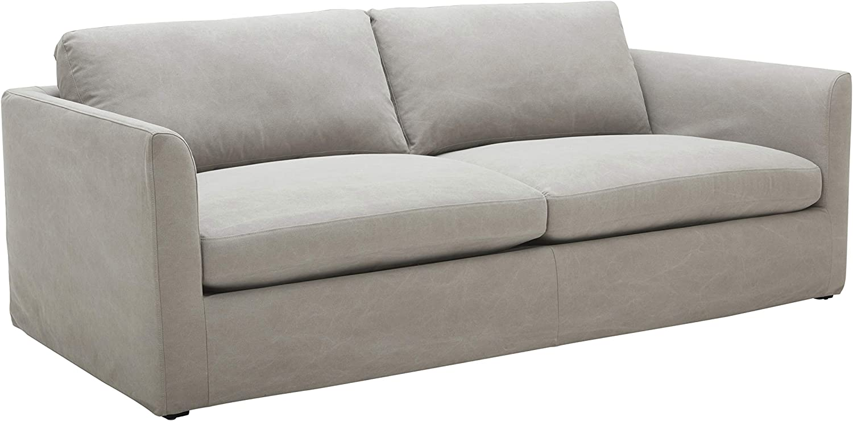 "Stone & Beam Faraday Down-Filled Casual Sofa, 102""W, Light Grey"