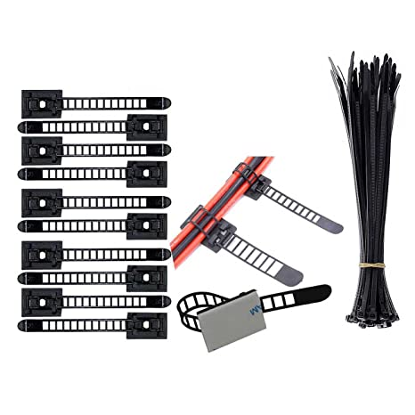 Eiito Cable Clip de Alambre (100 Paquete), Nylon Abrazadera de Cables (100