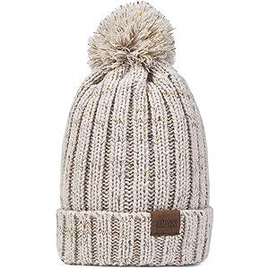 bb4af071113 Amazon.com  OMECHY Women s Winter Knit Hat Trendy Slouchy Beanie ...