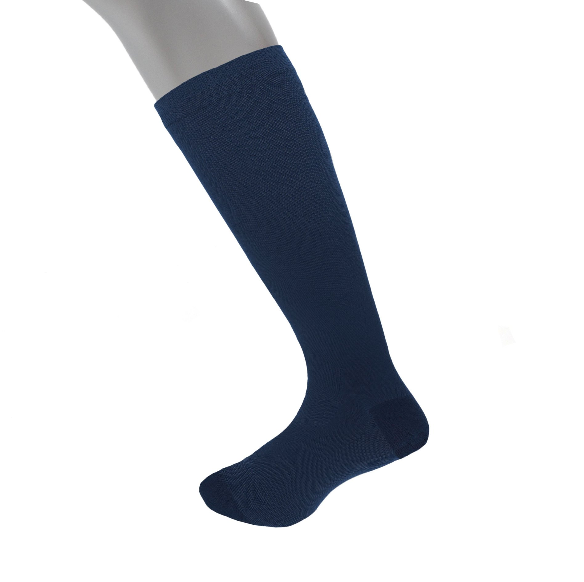 Compression Socks | Mens Navy Dress Casual (1 pair) | (15-20 mmHg) Graduated | Sock Size 10-13 | Improve Foot Health Comfort Circulation for Diabetes, Edema, Flight Travel, Swollen Feet