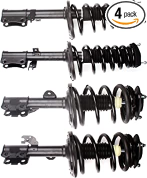 SCITOO Complete Strut Coil Spring Assembly Replacement Struts Shocks Fit for Toyota Camry Rear Pair