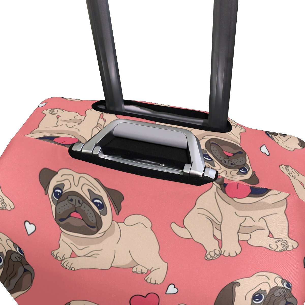 Cute Dog Puppy Love Heart Suitcase Luggage Cover Protector for Travel Kids Men Women by ALAZA (Image #3)