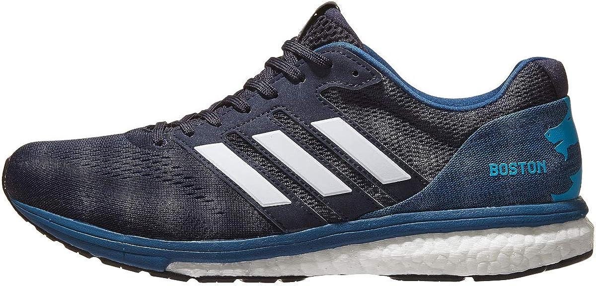 adidas Adizero Boston 7 Zapatillas de running para mujer - Boston Marathon, Blanco (Legend Ink / Cloud White / Shock Cyan), 39 EU: Amazon.es: Zapatos y complementos