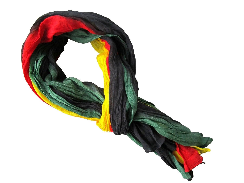 Planete Supporter     PROMOTION     Chèche Foulard Écharpe - Rasta rouge  noir jaune vert - 100% coton  Amazon.fr  Vêtements et accessoires ed81fc158ee