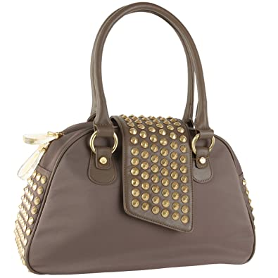 f70d86cf94 Image Unavailable. Image not available for. Color  Christian Audigier Gwen  Bowler Handbag - Taupe