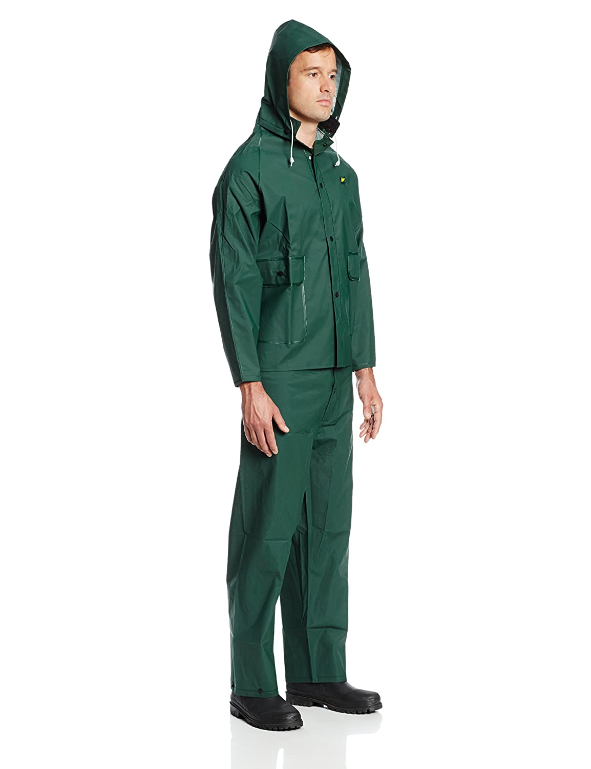 ONGUARD 76034 PVC on Polyester Jacket with Attached Hood Size Large ONGUARD Industries