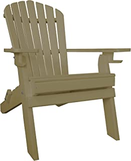 product image for Poly Recycled Plastic Adirondack Chair with Two Cupholder-Weatherwood