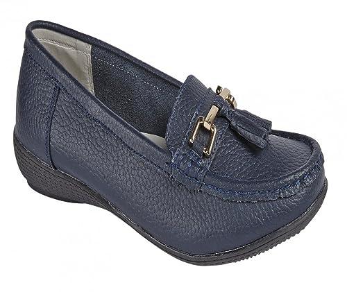 Jo   Joe Zapatos planos para mujer de piel con borlas 320f21aafa63