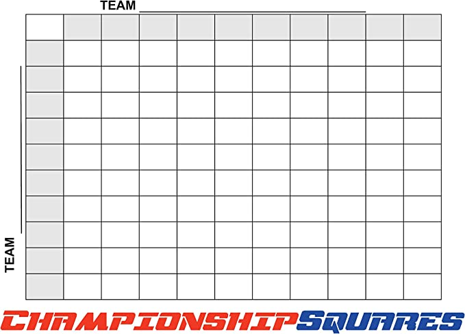 Copy King Reusable Super Bowl Football 100 Squares Dry Erase Office Pool 24x36