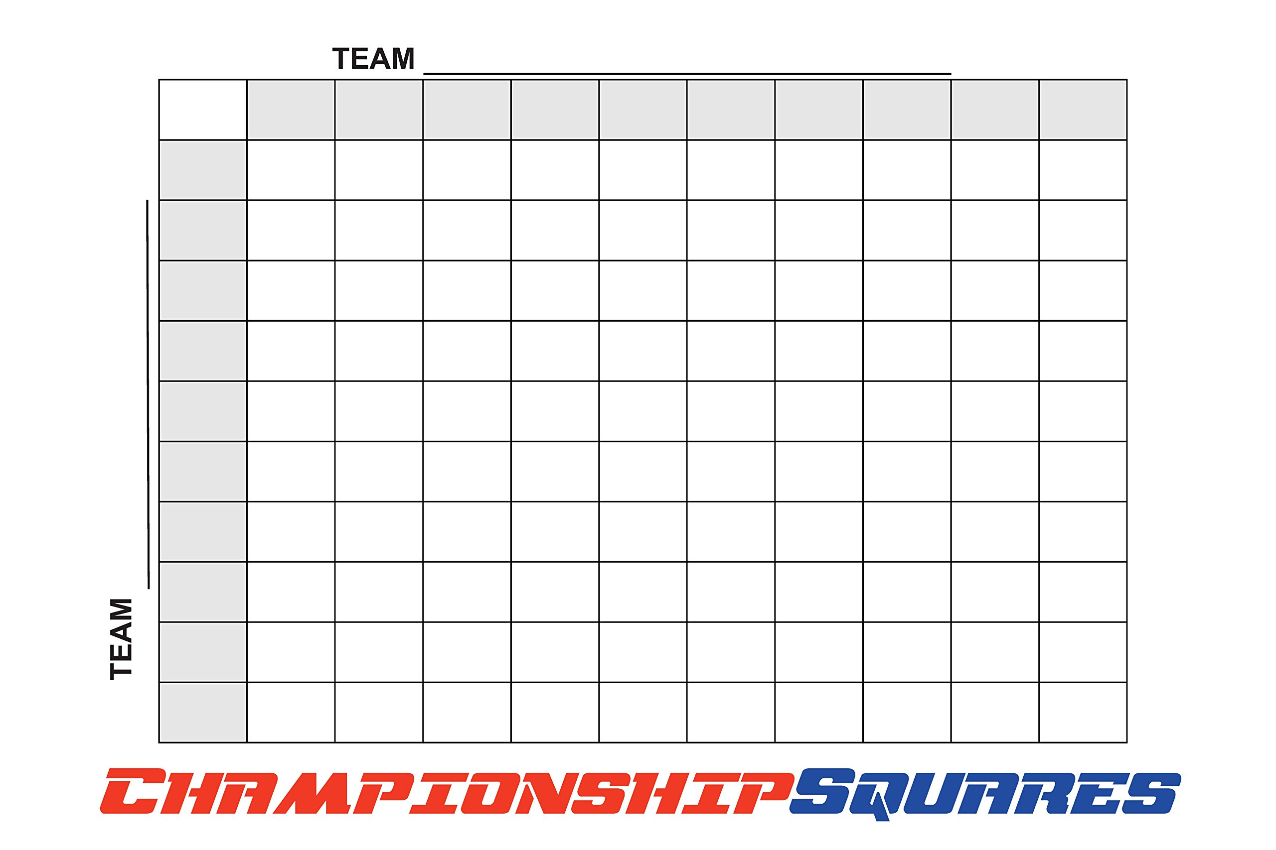 Copy King Reusable Super Bowl Football 100 Squares Dry Erase Office Pool 24x36 by Copy King