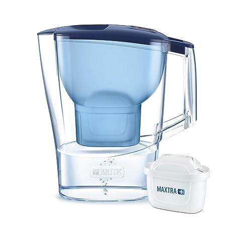 BRITA Aluna – Jarra de Agua Filtrada con 1 cartucho MAXTRA+ – Filtro de agua BRITA de color azul que reduce la cal y el cloro – Agua filtrada para un ...