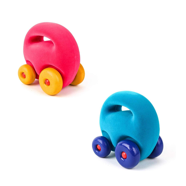 Rubbabu Mascot Car Grab Em 2 Pack Light Blue and Pink Car