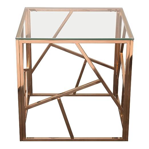 Diamond Furniture NESTETRG Nest - Mesa Auxiliar Cuadrada con Parte ...