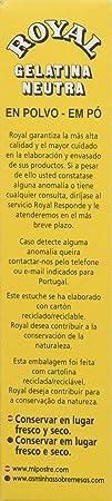 Royal - Gelatina Sin Sabor, 20 g