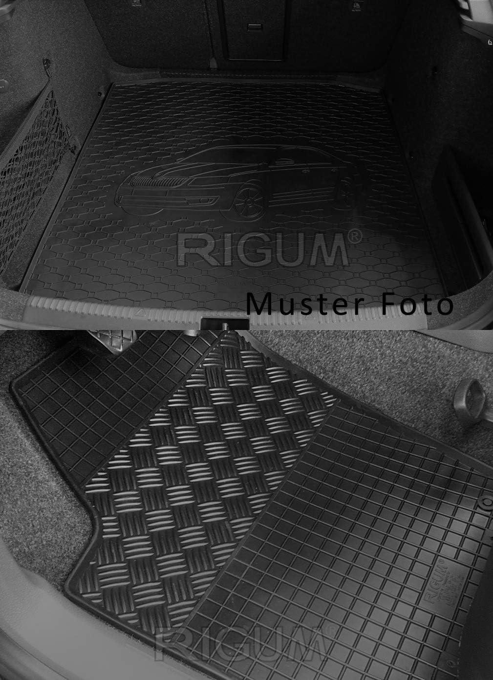 Kofferraumwanne Und Gummifußmatten Rigum Geeignet Für Seat Ateca 4x2 Ab 2016 Perfekt Angepasst Extra Auto Duft Auto