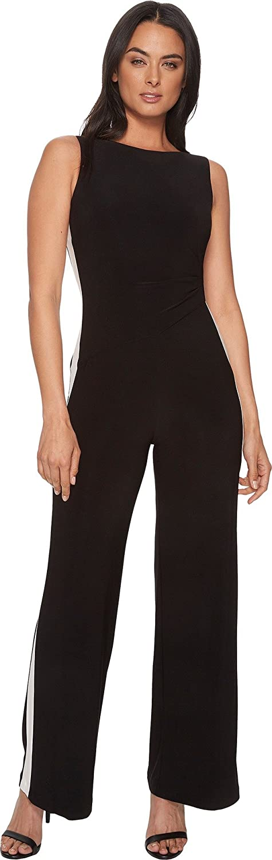 948085a45e3 Amazon.com  Lauren Ralph Lauren Womens Shah Two-Tone Matte Jersey Jumpsuit   Clothing