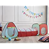 Truedays Tente cubique pour enfants avec Tente tunnel Maison de Jouet 3piècesIndoor / Outdoor
