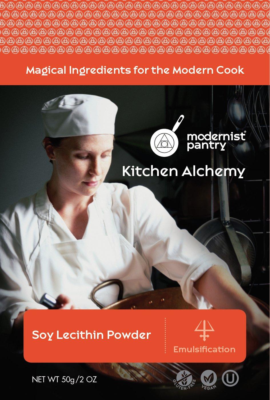 Food Grade Soy Lecithin Powder (Molecular Gastronomy) ☮ Vegan ✡ OU Kosher Certified - 50g/2oz