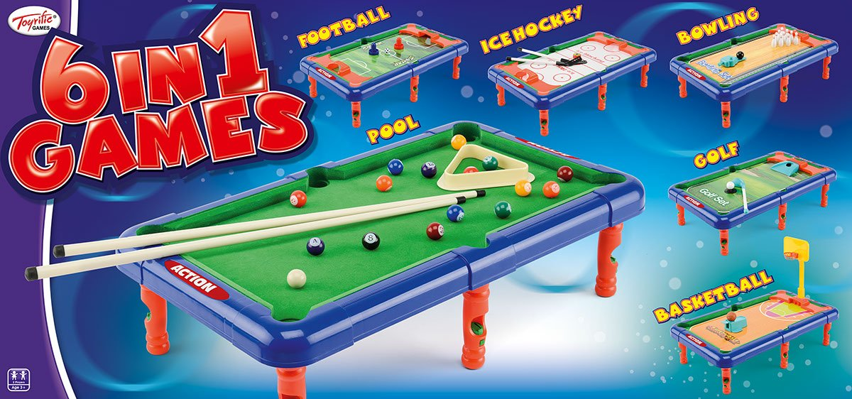 Game - 6 In 1 Games Table