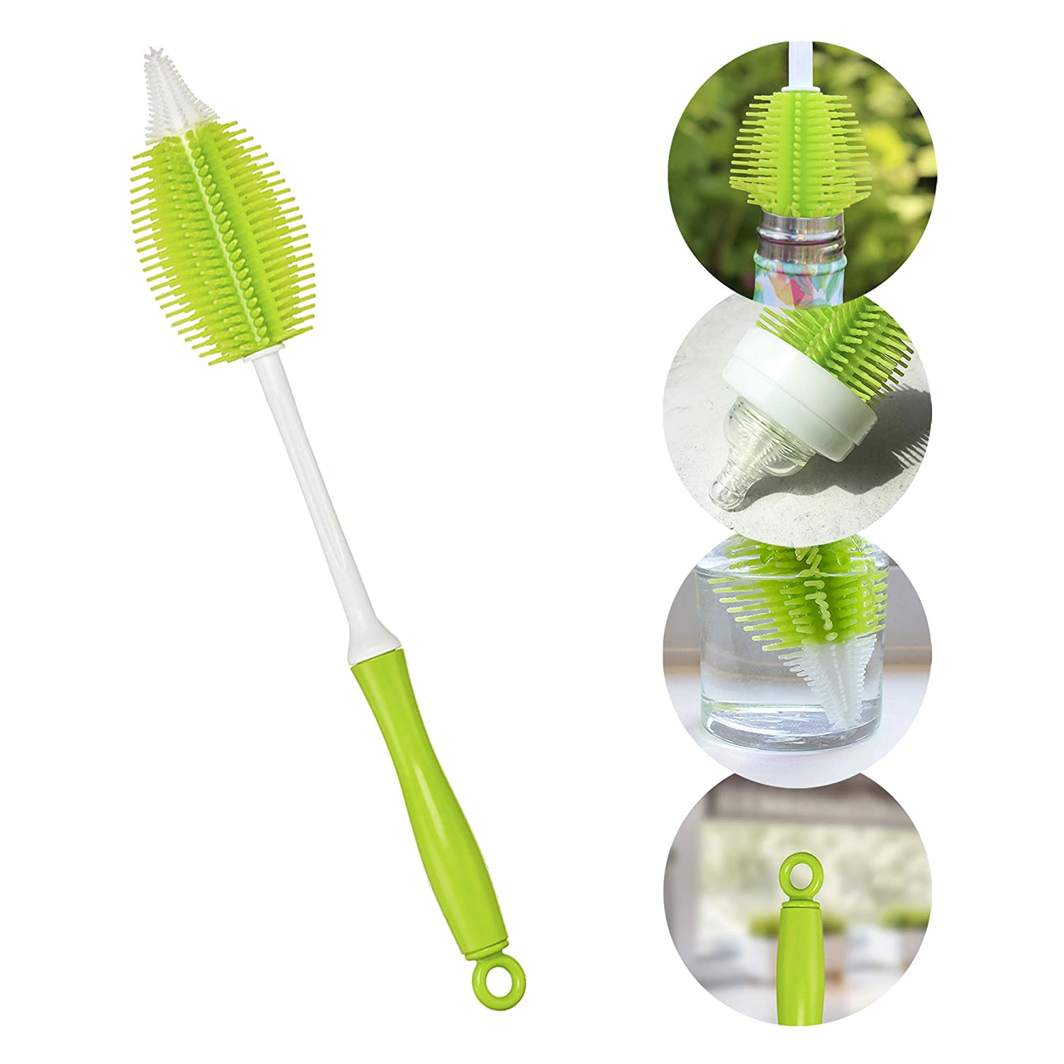 Innobaby 2-in-1 Silicone Bottle Brush, Green: Amazon.es: Bebé