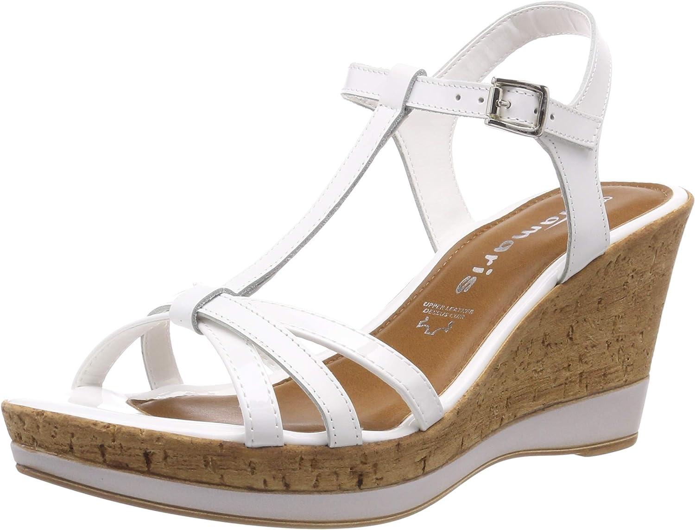NOUVEAU TAMARIS Chaussures Femmes Chaussures Bride D/'orteil Femmes-Sandales Sandales en cuir