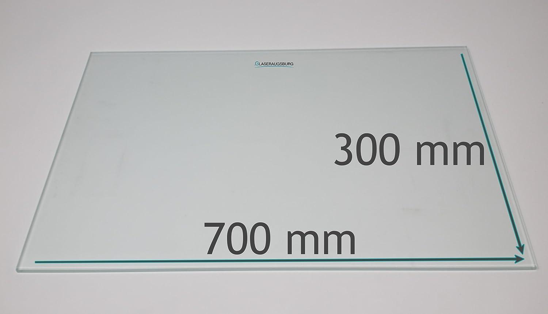 400 mm x 380 mm Glasplatte//Glasregal alle Ma/ße lieferbar satiniertem Glas 6 mm stark