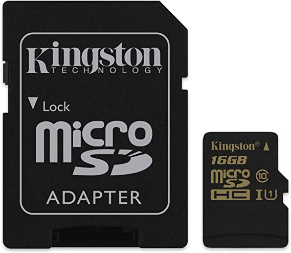 Kingston SDCA10/16GB - Tarjeta UHS-I SDHC/SDXC de 16 GB (Micro SDHC, Clase 10, 90R/45 W)