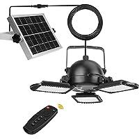 Hixyer Solar Pendant Lights Outdoor Indoor 800LM 60LED Solar Powered Shed Light 3 Leaf Adjustable Solar Security Lights…