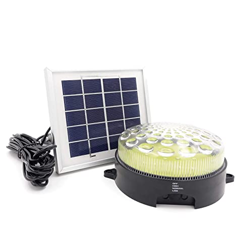 Solar Shed Light // ROXY-G2 (Warm White LED) // Lighting Kit // Lithium  Battery // Auto On & Off // 3-Level Brightness Control